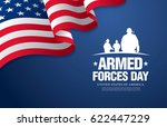 armed forces day template... | Shutterstock .eps vector #622447229