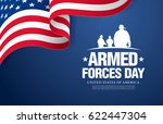 armed forces day template... | Shutterstock .eps vector #622447304