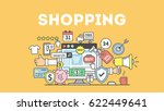 shopping concept illustration... | Shutterstock . vector #622449641