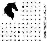 Stock vector horse icon illustration isolated vector sign symbol animals icons vector set on white background 622457327