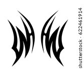 tattoo sketch tribal vector... | Shutterstock .eps vector #622461914