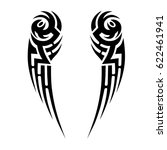 tribal tattoo art designs.... | Shutterstock .eps vector #622461941