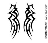tattoo sketch tribal vector... | Shutterstock .eps vector #622461959