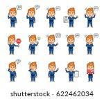 set of sportsman characters in... | Shutterstock .eps vector #622462034