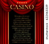 advertising a casino with a red ... | Shutterstock .eps vector #622463339