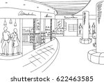 shopping mall graphic black... | Shutterstock .eps vector #622463585