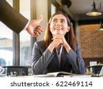 boss employer admires to young... | Shutterstock . vector #622469114