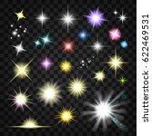 sparkling light effects | Shutterstock .eps vector #622469531
