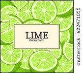 square label on citrus lime... | Shutterstock .eps vector #622471055