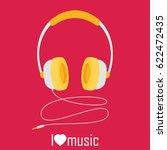 headphones with cord vector | Shutterstock .eps vector #622472435