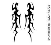 tattoo sketch tribal vector... | Shutterstock .eps vector #622472729