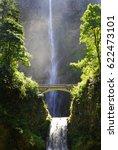 Multnomah Waterfall In Oregon...