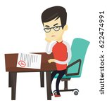 asian student disappointed test ... | Shutterstock .eps vector #622474991