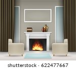 Vector Living Room Interior...