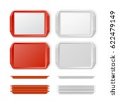 vector set of rectangular red... | Shutterstock .eps vector #622479149