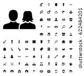 man and woman icon illustration ... | Shutterstock .eps vector #622484201