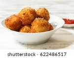 mashed potato cheese balls  ... | Shutterstock . vector #622486517