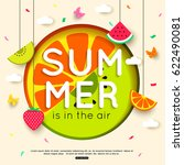 summer background with hanging... | Shutterstock .eps vector #622490081