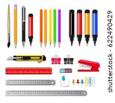 stationery assortment set of... | Shutterstock .eps vector #622490429