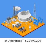 space station isometric concept ... | Shutterstock .eps vector #622491209