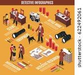 isometric detective... | Shutterstock .eps vector #622492061