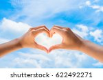 female hands in the form of... | Shutterstock . vector #622492271