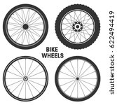 bicycle wheel symbol vector.... | Shutterstock .eps vector #622494419