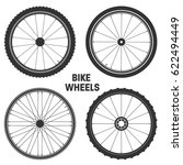 bicycle wheel symbol vector.... | Shutterstock .eps vector #622494449