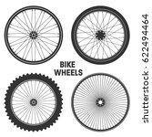 bicycle wheel symbol vector.... | Shutterstock .eps vector #622494464