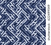 indigo dyed abstract geometric... | Shutterstock . vector #622499549