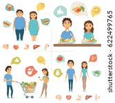 healthy food infographics.... | Shutterstock .eps vector #622499765