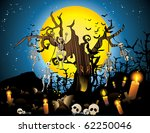 halloween skeleton wood vector | Shutterstock .eps vector #62250046