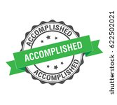 accomplished stamp illustration | Shutterstock .eps vector #622502021