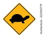 turtle crossing sign. traffic...   Shutterstock .eps vector #622503779