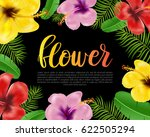 floral card  banner  poster... | Shutterstock .eps vector #622505294