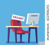 composition with office chair... | Shutterstock .eps vector #622506251