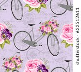seamless floral pattern with... | Shutterstock .eps vector #622512611