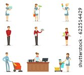 hotel staff set for label... | Shutterstock .eps vector #622514429