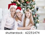 young family in the cap on the... | Shutterstock . vector #62251474