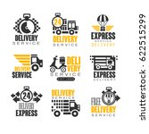 delivery set for label design.... | Shutterstock .eps vector #622515299