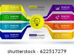 infographics eight options with ... | Shutterstock .eps vector #622517279