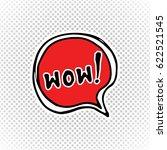 comic book speech bubble ... | Shutterstock .eps vector #622521545