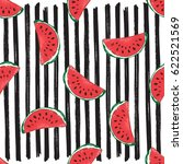 water melon seamless pattern... | Shutterstock .eps vector #622521569