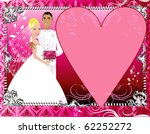 Raster version Illustration. A beautiful bride and groom on their wedding day. Wedding Couple 6. - stock photo