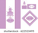 a set of designs for bakery or... | Shutterstock .eps vector #622523495