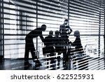 several silhouettes of... | Shutterstock . vector #622525931