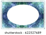 beautiful oval frame with... | Shutterstock .eps vector #622527689