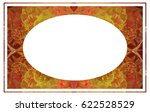 beautiful oval frame with... | Shutterstock .eps vector #622528529