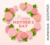 happy mothers day background... | Shutterstock .eps vector #622529525