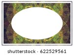 beautiful oval frame with... | Shutterstock .eps vector #622529561